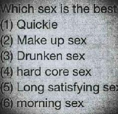 Which sex is best